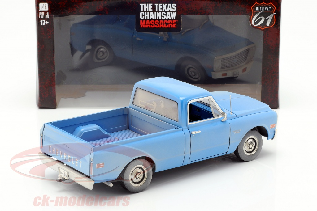 greenlight-1-18-chevrolet-c-10-filme-the-texas-chainsaw-massacre-1974-azul-hwy18014/