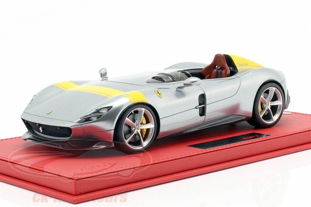 bbr-models-1-18-ferrari-monza-sp1-paris-carro-espetaculo-2018-prata-amarelo-p18164a/