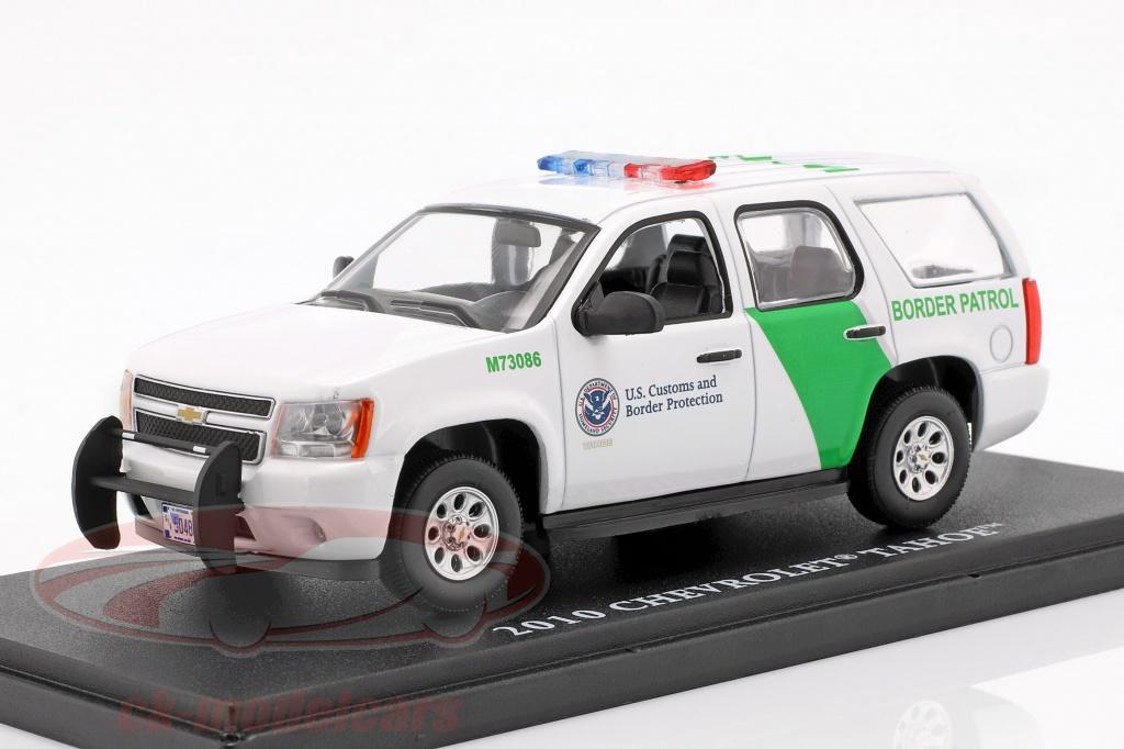 greenlight-1-43-chevrolet-tahoe-border-patrol-opfrselsr-2010-hvid-grn-86163/