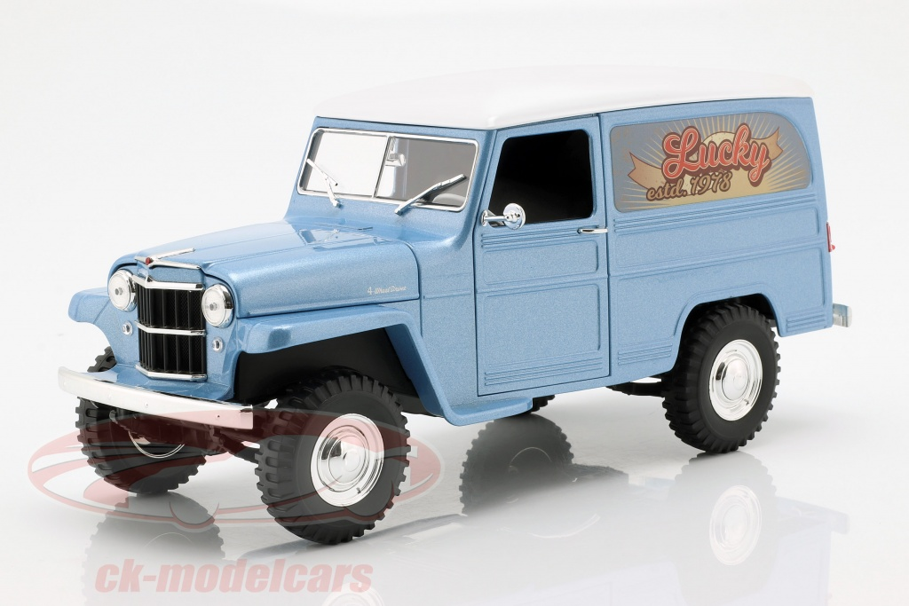lucky-diecast-1-18-willys-jeep-station-wagon-opfrselsr-1978-silberblau-hvid-ldc92858ab/