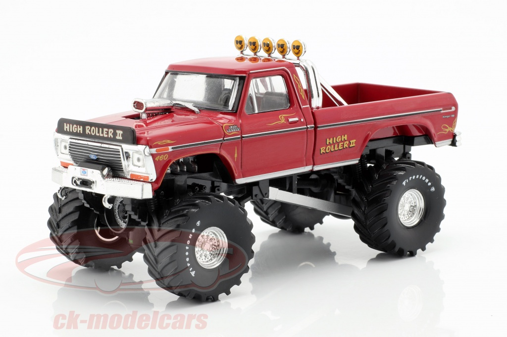 greenlight-1-43-ford-f-250-monster-truck-high-roller-ii-baujahr-1979-rot-86162/