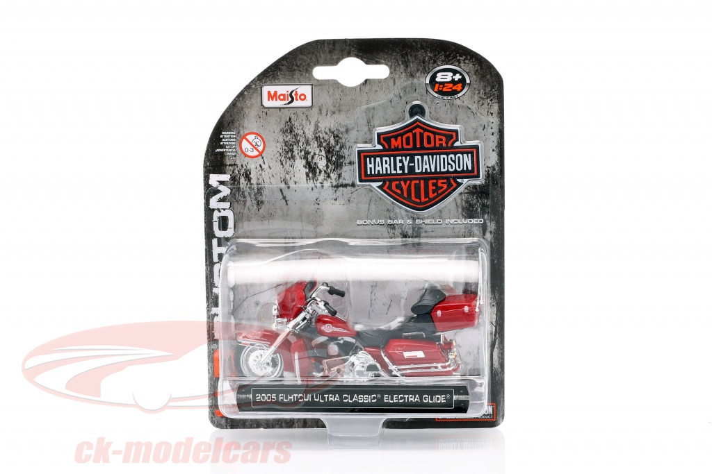 maisto-1-24-harley-davidson-ultra-classic-electra-glide-annee-de-construction-2005-rouge-35094/