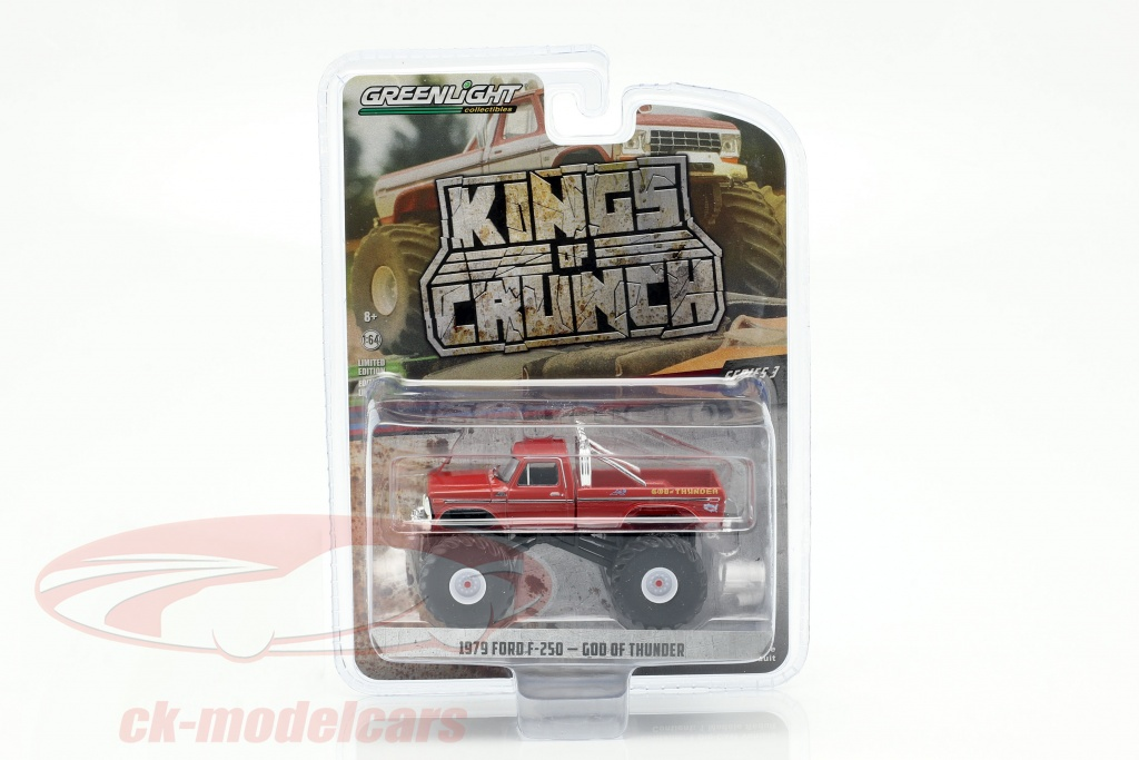 greenlight-1-64-ford-f-250-monster-truck-god-of-thunder-year-1979-red-49030-e/