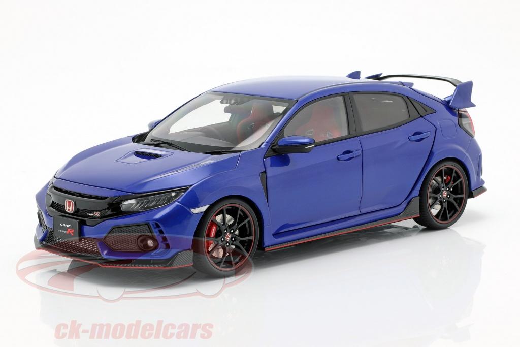autoart-1-18-honda-civic-type-r-fk8-bouwjaar-2017-blauw-metalen-73269/