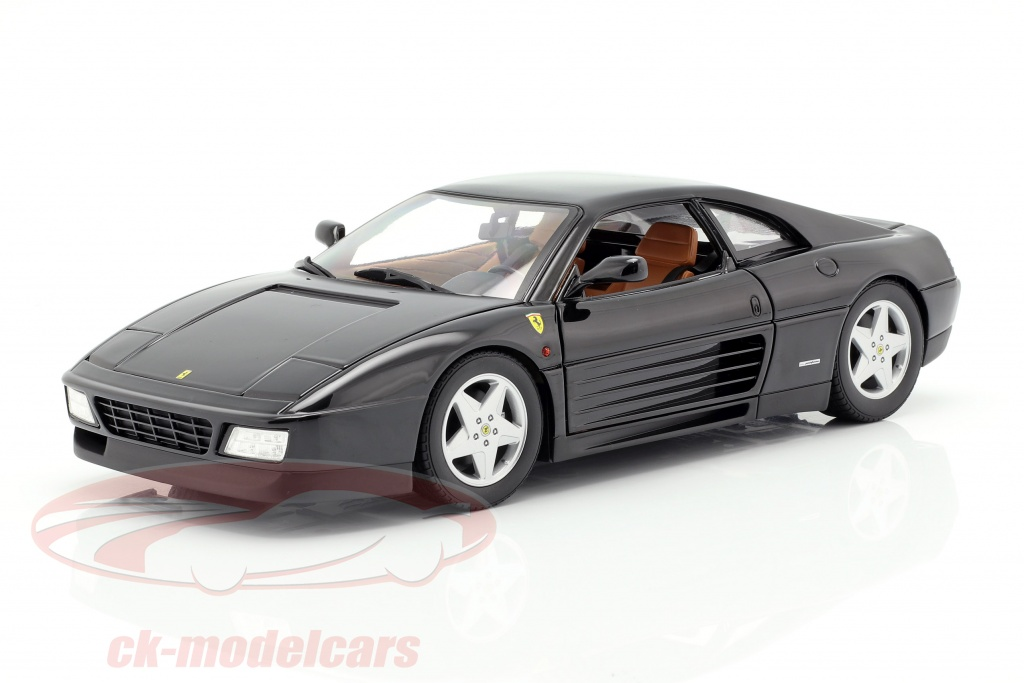1:18 Hot Wheels Ferrari 348tb Coupe black