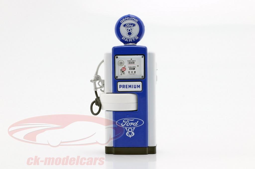 greenlight-1-18-benzinepomp-ford-genuine-parts-blauw-wit-14060-a/