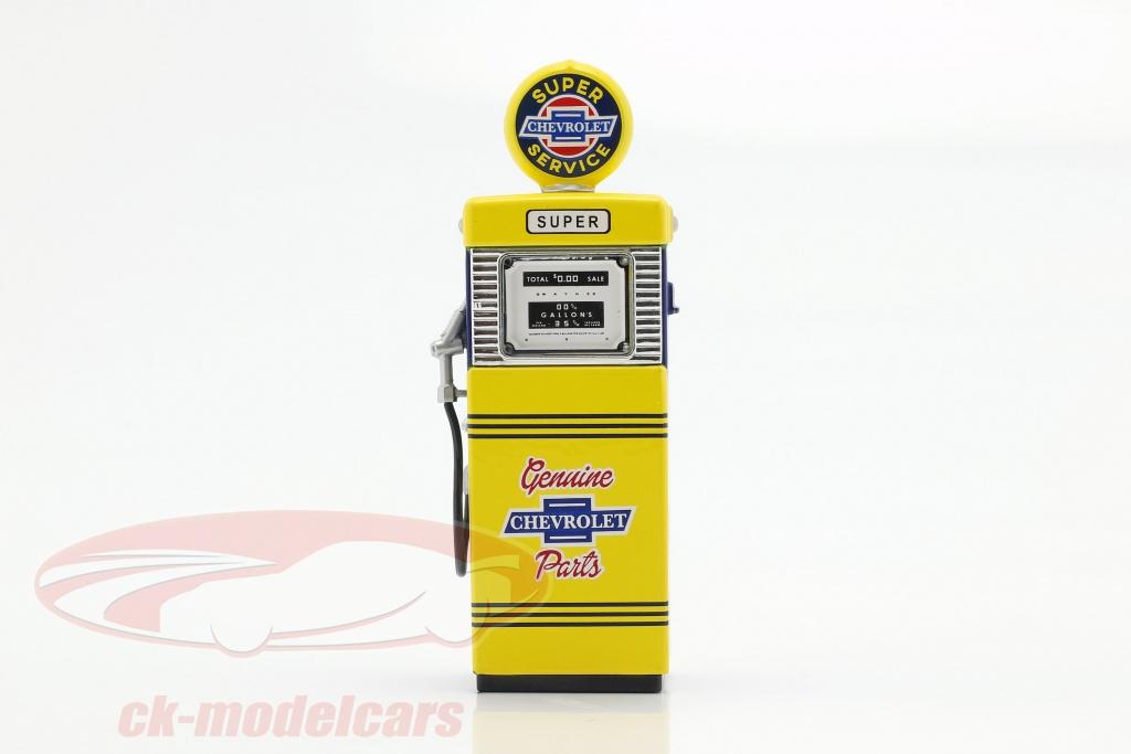 greenlight-1-18-gas-pump-super-chevrolet-service-yellow-blue-14060-b/