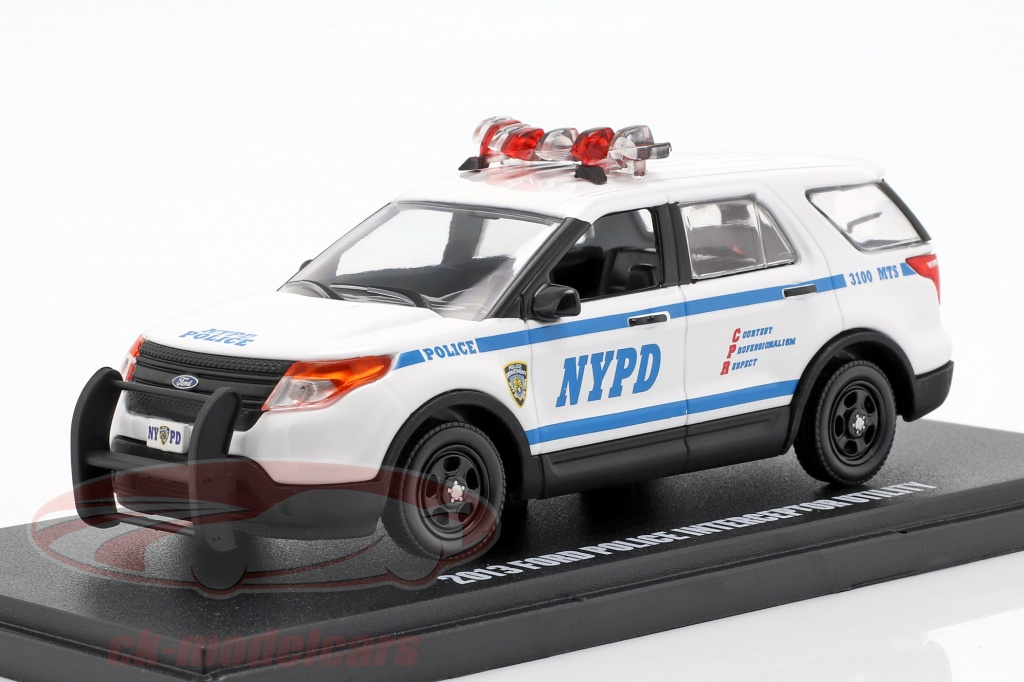 greenlight-1-43-ford-police-interceptor-utility-nypd-annee-de-construction-2013-blanc-bleu-86167/