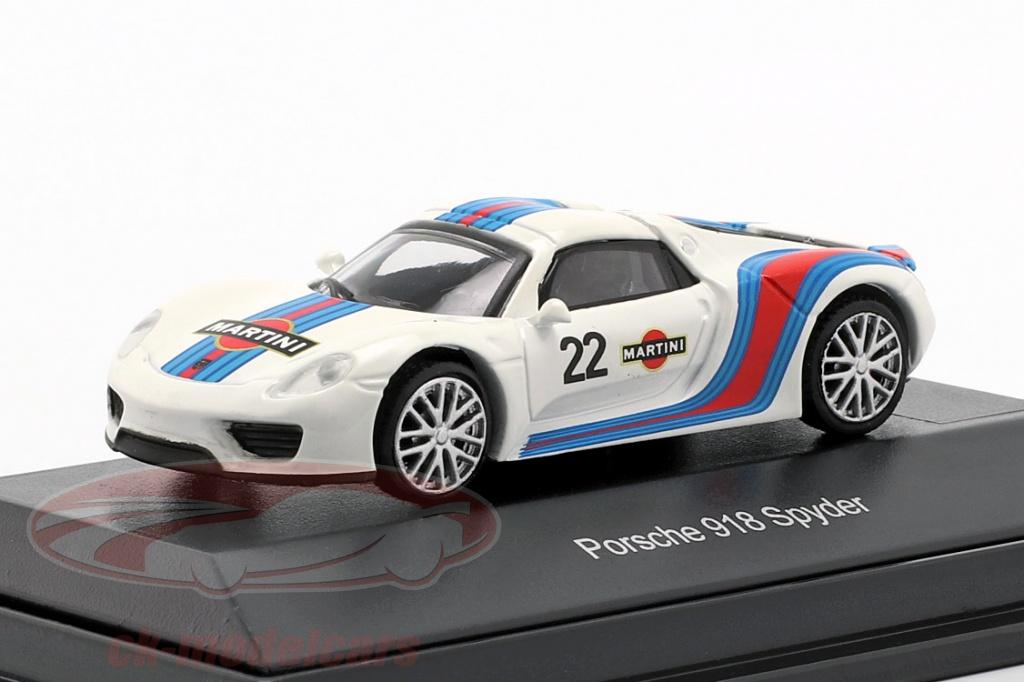 schuco-1-87-porsche-918-spyder-no22-martini-design-weiss-blau-rot-452628200/