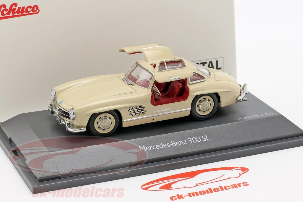 schuco-1-43-mercedes-benz-300-sl-w198-fluegeltuerer-beige-450260300/