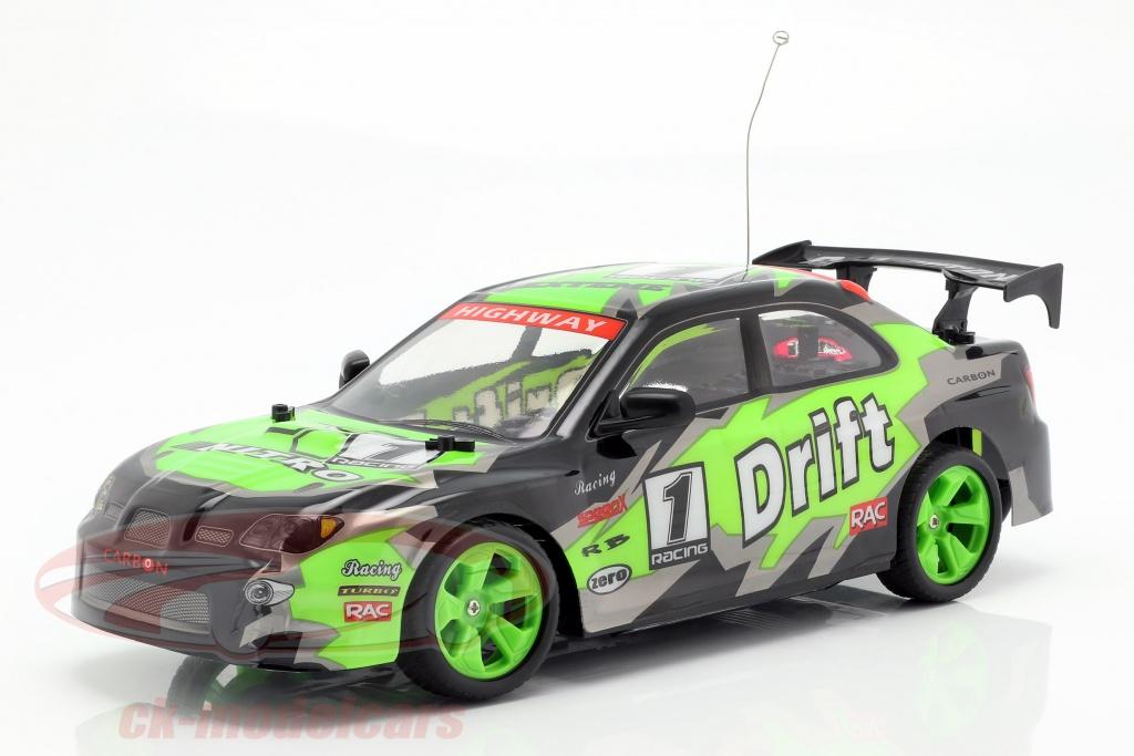 newray-1-14-x-tuner-r-c-drift-car-with-pylons-green-black-gray-ss-88253/