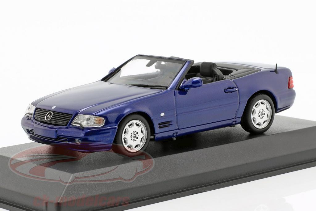 minichamps-1-43-mercedes-benz-sl-annee-de-construction-1999-bleu-metallique-940033030/