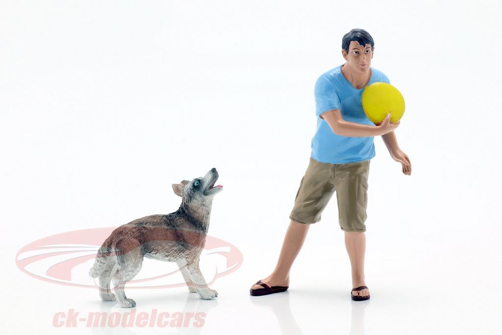 american-diorama-1-18-man-met-hond-figuur-reeks-ad-23889/