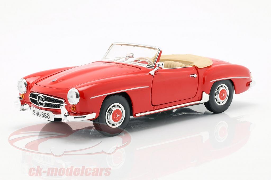 maisto-1-18-mercedes-benz-190-sl-baujahr-1955-rot-31824/