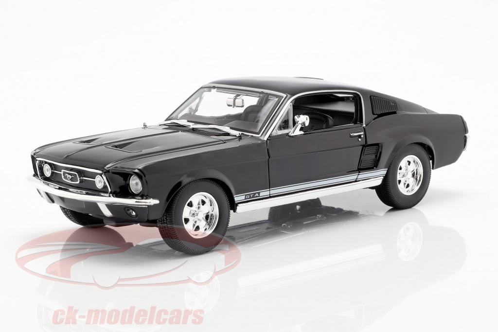 maisto-1-18-ford-mustang-gta-fastback-year-1967-black-31166z/