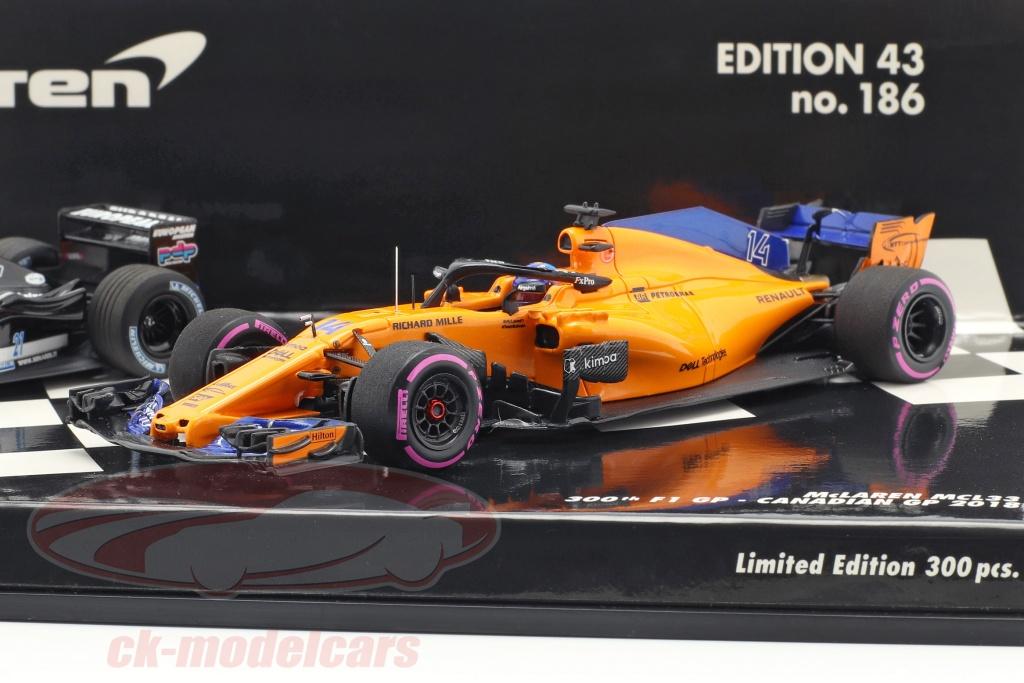 minichamps-1-43-2-car-set-fernando-alonso-numero-300-formula-1-gp-canada-2018-412180114/