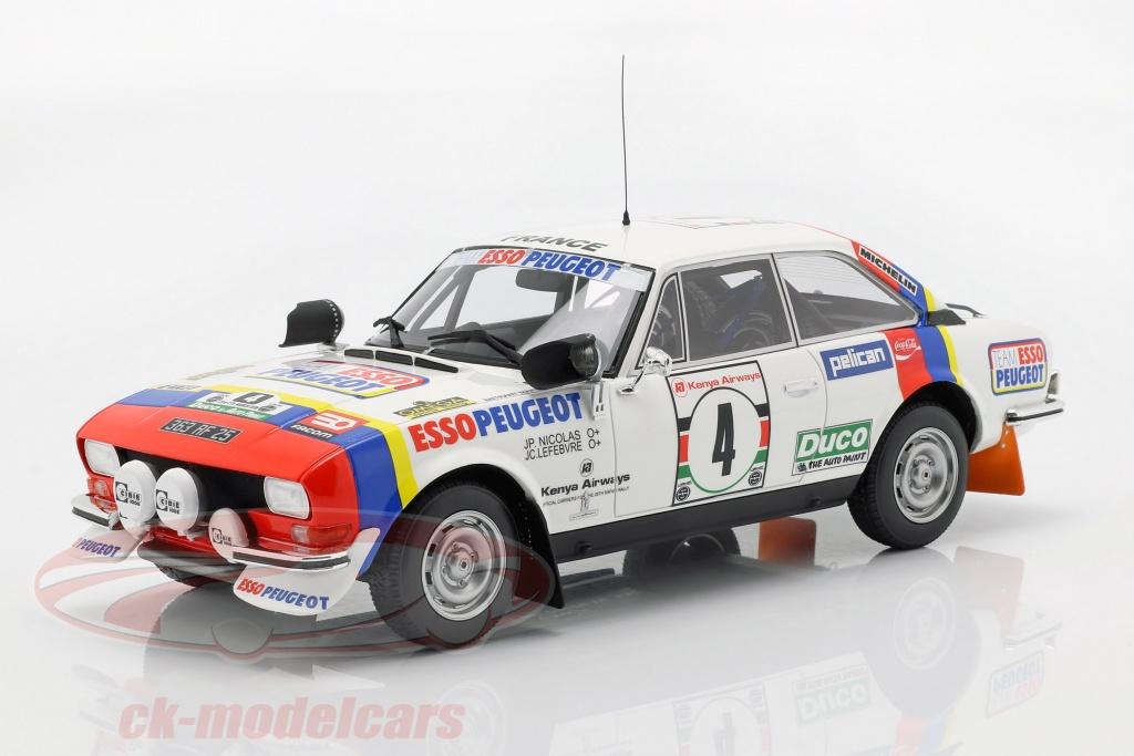 ottomobile-1-18-peugeot-504-coupe-v6-no4-winnaar-safari-rallye-1978-nicolas-lefebvre-ot309/