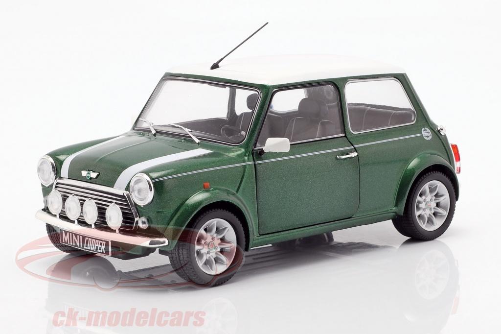 solido-1-18-mini-cooper-13i-sport-pack-bouwjaar-1997-groen-wit-s1800603/