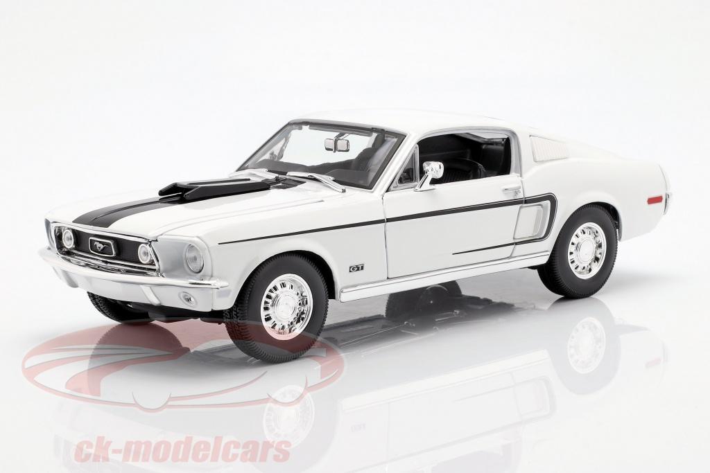 maisto-1-18-ford-mustang-gt-cobra-jet-year-1968-white-31167/
