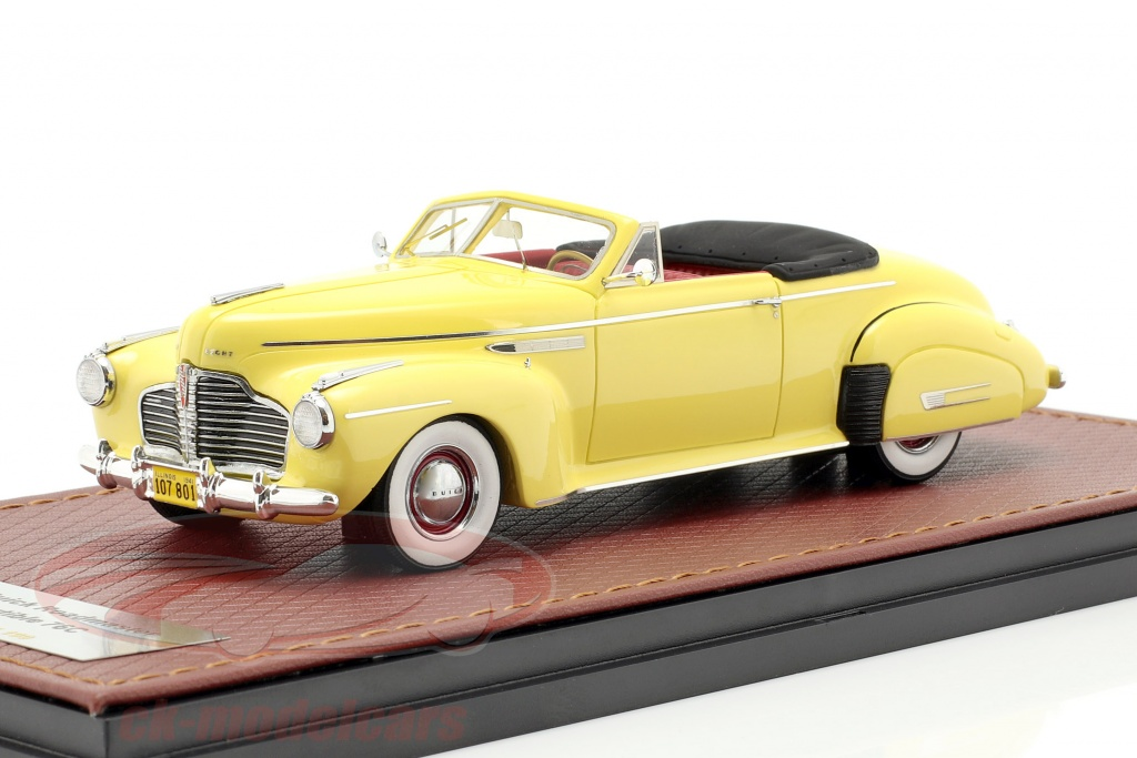 great-lighting-models-1-43-buick-roadmaster-convertible-76c-ouvert-annee-de-construction-1941-jaune-glm107801/