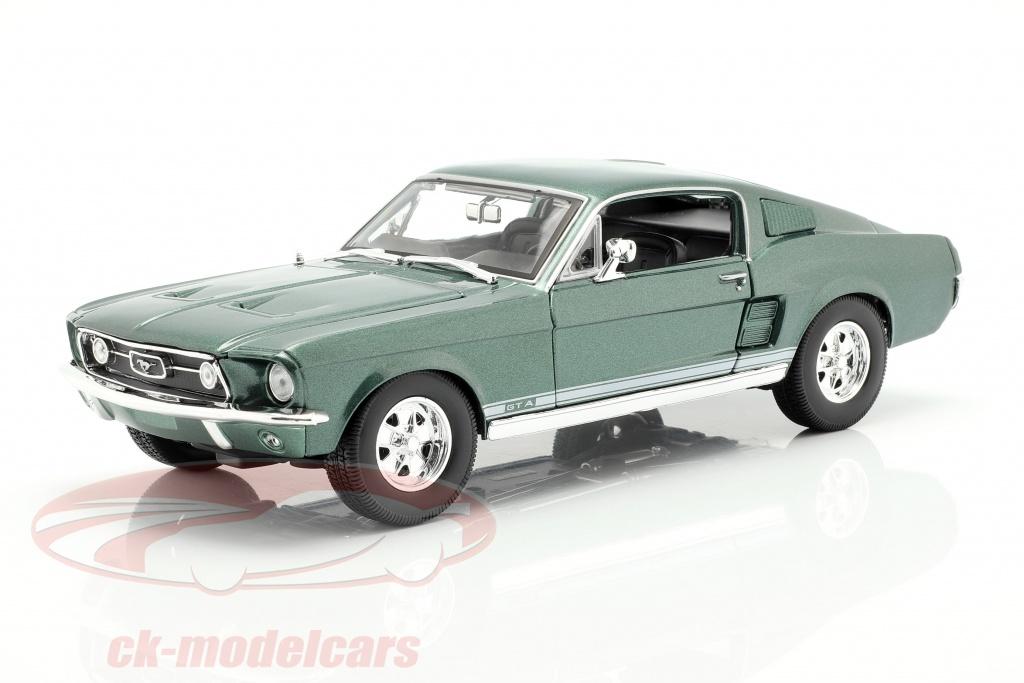 maisto-1-18-ford-mustang-fastback-gta-jaar-1967-groen-31166/