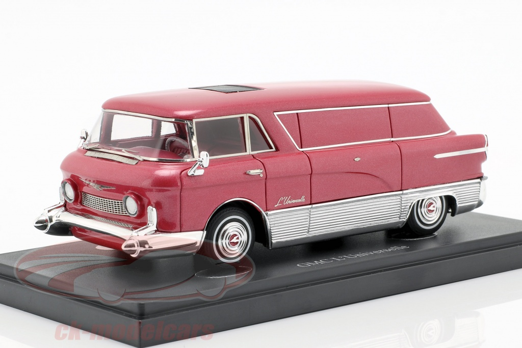 autocult-1-43-gmc-luniverselle-transporter-year-1955-red-metallic-silver-08011/