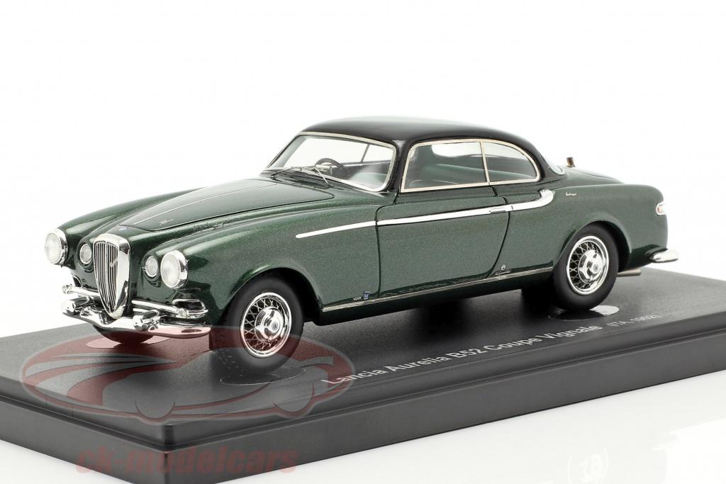 autocult-1-43-lancia-aurelia-b52-coupe-vignale-opfrselsr-1952-mrkegrn-sort-60027/