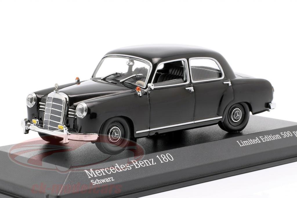 minichamps-1-43-mercedes-benz-180-w120-opfrselsr-1955-sort-943033103/