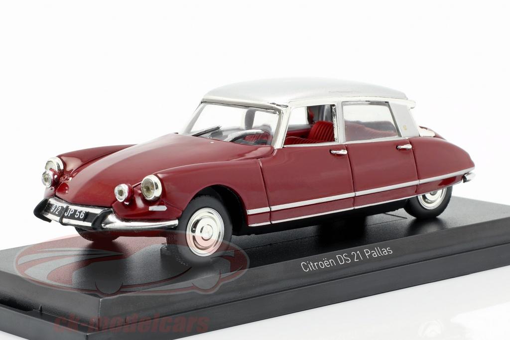 norev-1-43-citroen-ds21-pallas-ano-de-construcao-1967-escuro-vermelho-prata-157081/