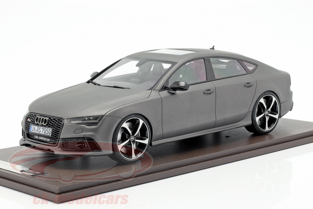motorhelix-1-18-audi-rs7-sportback-performance-year-2016-matt-grey-mh003mtg/