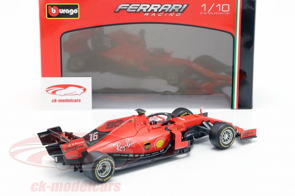 Bburago 1 18 Charles Leclerc Ferrari Sf90 16 Formula 1 2019 18 16807l Model Car 18 16807l 4893993012565 8719247525840
