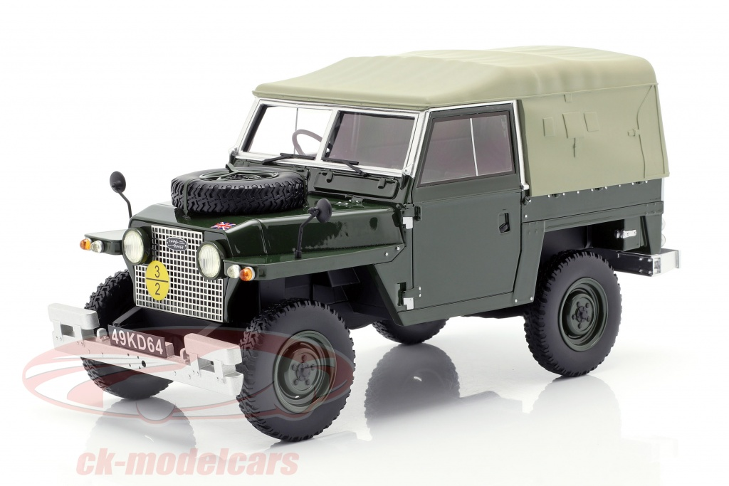 bos-models-1-18-land-rover-lightweight-series-iia-soft-top-year-1968-dark-green-bos356/