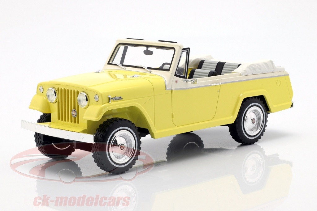 bos-models-1-18-jeep-jeepster-commando-convertible-annee-de-construction-1970-jaune-blanc-bos373/
