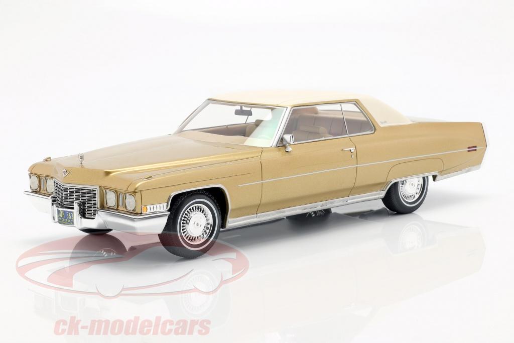 bos-models-1-18-cadillac-coupe-deville-anno-di-costruzione-1972-oro-metallico-bianco-bos363/
