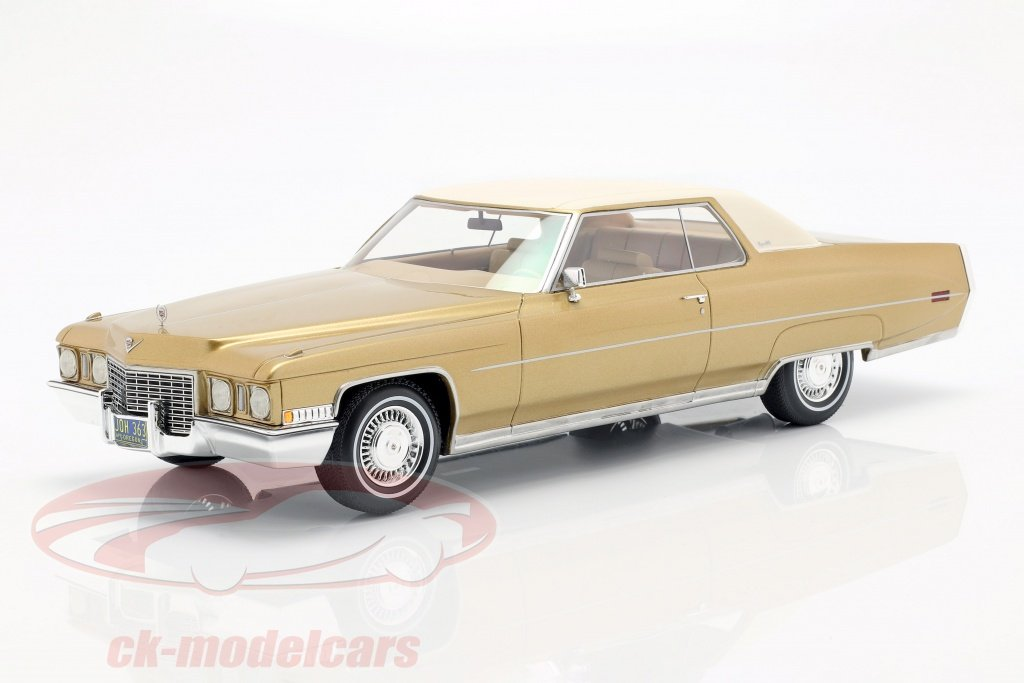 bos-models-1-18-cadillac-coupe-deville-year-1972-gold-metallic-white-bos363/