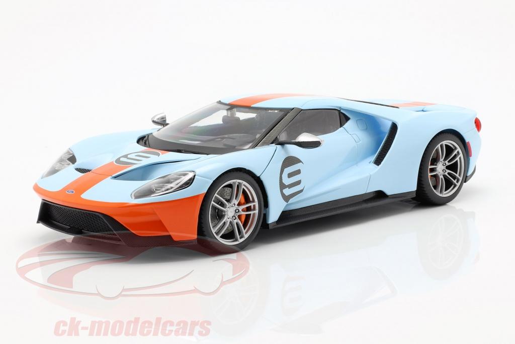 maisto-1-18-ford-gt-gulf-no9-ano-de-construcao-2017-azul-claro-laranja-38134/