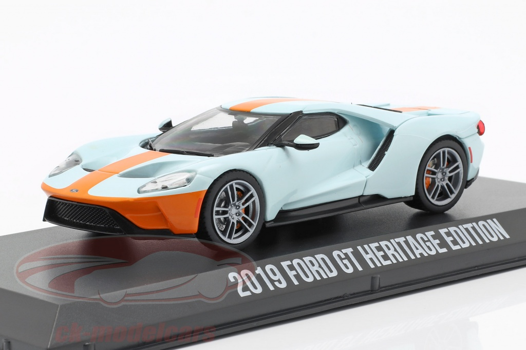 greenlight-1-43-ford-gt-heritage-edition-gulf-2019-light-blue-orange-86158/