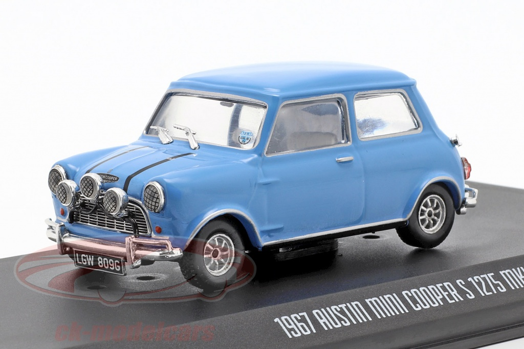 greenlight-1-43-austin-mini-cooper-s-1275-mk1-1967-film-the-italian-job-1969-bleu-86549/