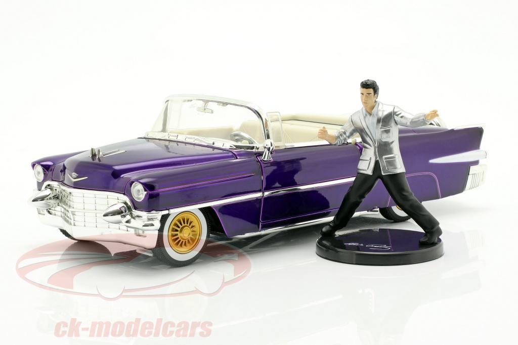jadatoys-1-24-cadillac-eldorado-annee-de-construction-1956-avec-elvis-figur-violet-fonce-metallique-253255011/