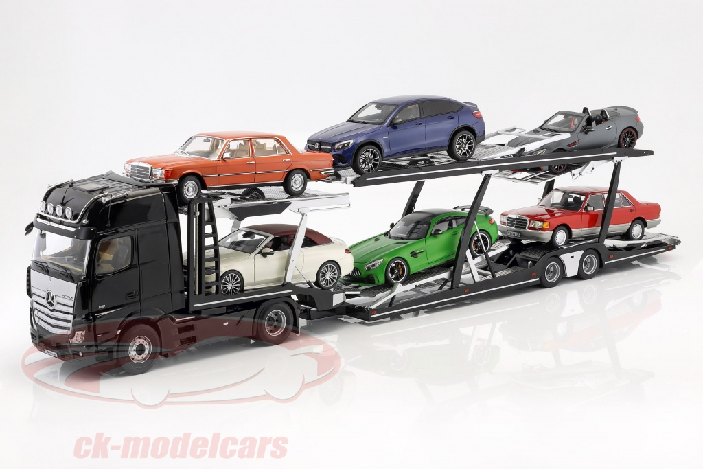 nzg-1-18-set-mercedes-benz-actros-with-lohr-car-transporter-black-silver-lx971000-971-992-50/
