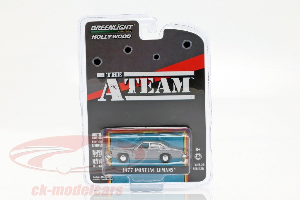 greenlight-1-64-pontiac-lemans-1977-serie-tv-il-a-team-1983-87-grigio-argento-44850c/