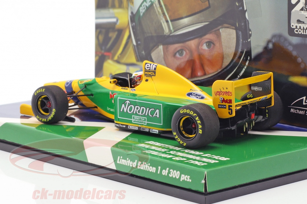 Benetton b193 schumacher decals south Africa Brazil 1993 1//43 e for minichamps