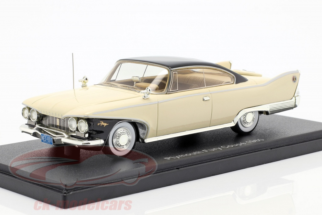 neo-1-43-plymouth-fury-coupe-year-1960-light-beige-neo44691/