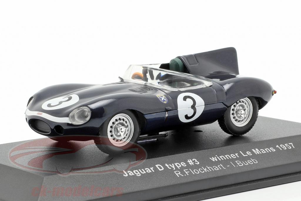 ixo-1-43-jaguar-d-type-no3-winner-24h-lemans-1957-flockhart-bueb-lm1957/