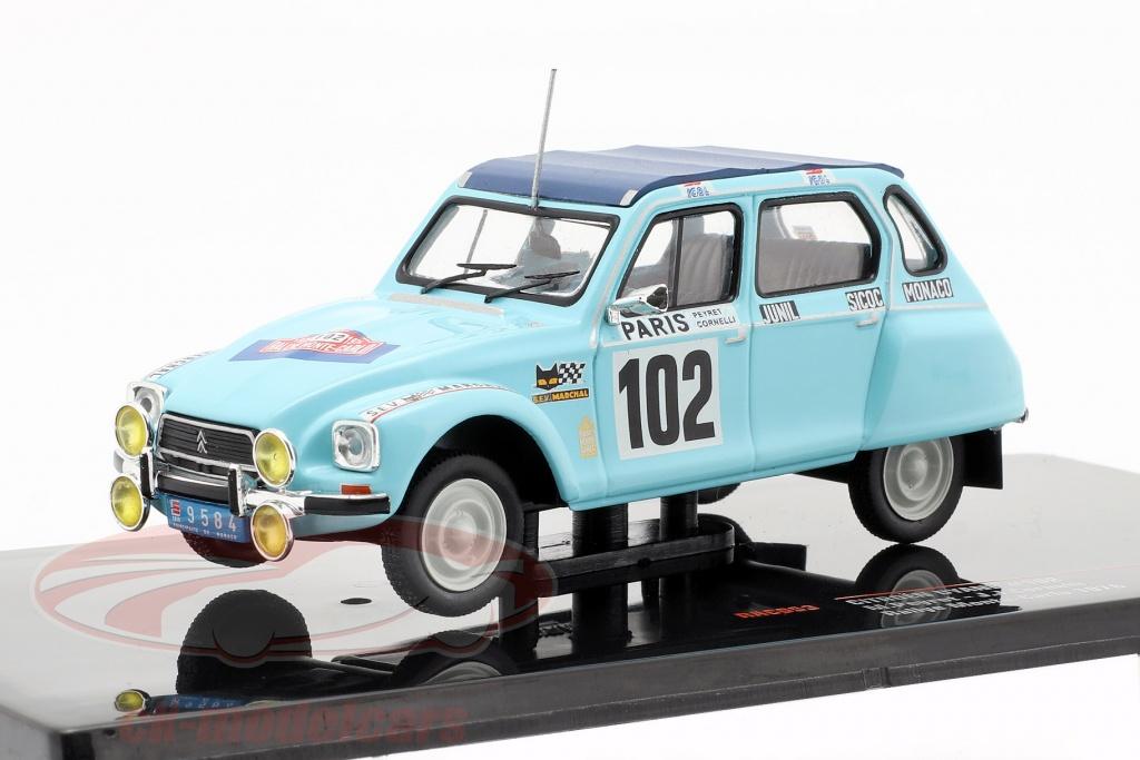 ixo-1-43-citroen-dyane-no102-rallye-monte-carlo-1976-peyret-cornelli-rac053/