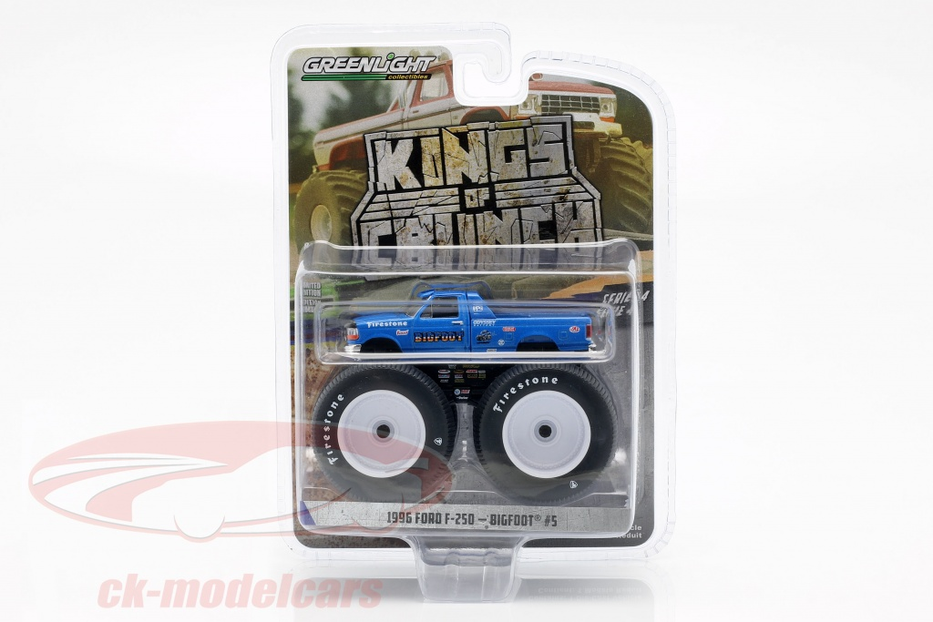 greenlight-1-64-ford-f-250-monster-truck-bigfoot-no5-year-1996-blue-49040e/
