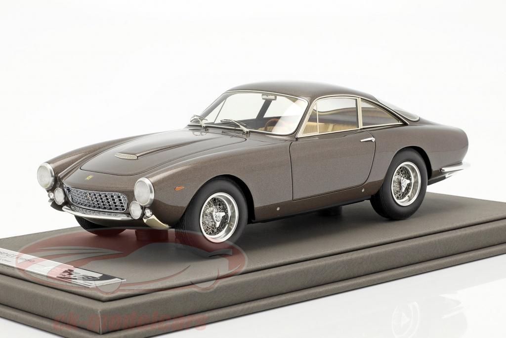 bbr-models-1-18-ferrari-250-gt-lusso-coupe-steve-mcqueen-grijs-bruin-metalen-cars1818/