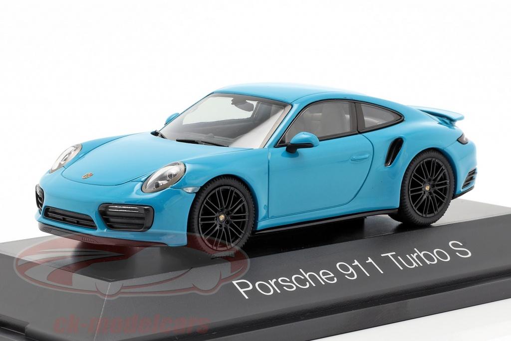 herpa-1-43-porsche-911-991-ii-turbo-s-ano-de-construccion-2016-miami-azul-her071475/