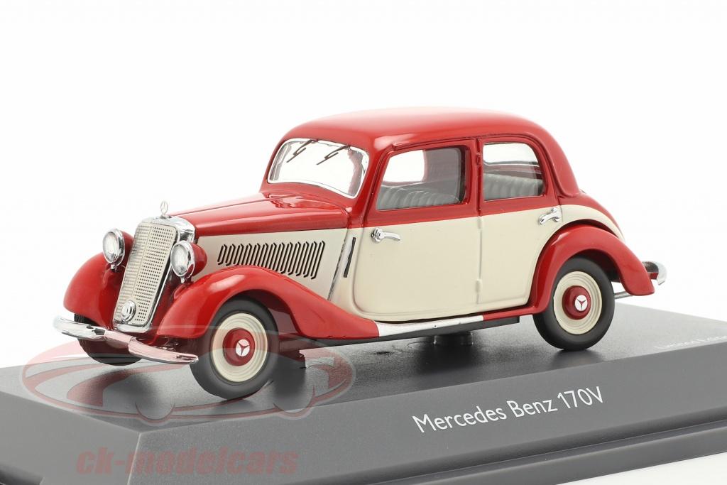 schuco-1-43-mercedes-benz-170v-rood-wit-450247000/