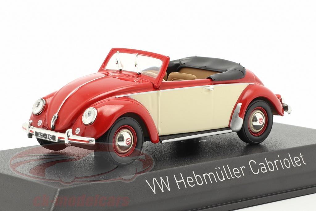 norev-1-43-volkswagen-vw-hebmueller-cabriole-ano-de-construccion-1949-rojo-crema-blanco-840022/